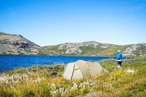camping sea camp woman water circle see wasser tent menschen arctic trail greenland frau kellyville zuiko act zelt kamera omd natascha gl em1 grönland gewässer 1240mm arcticcircletrail qeqqata