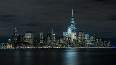 Nachtaufnahme Skyline New York