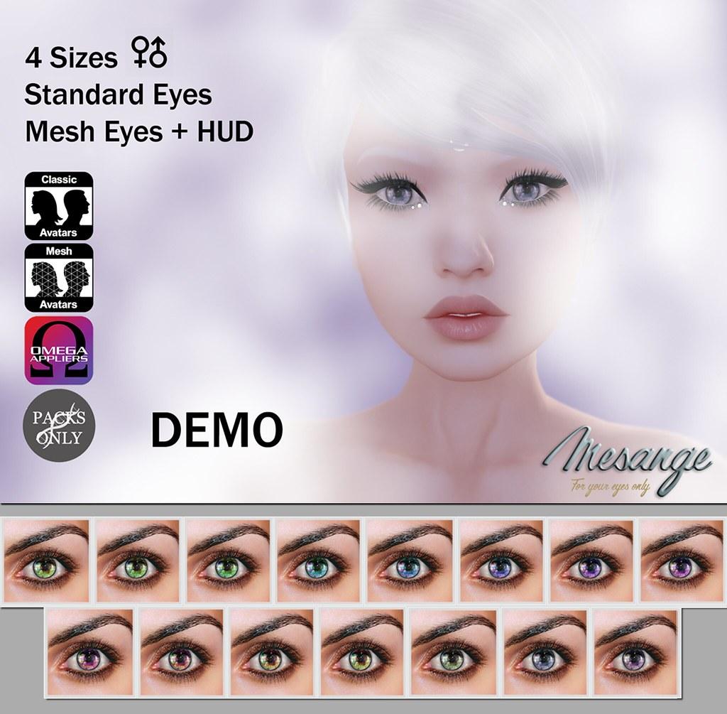 MESANGE - Madrigal Eyes for Cosmetic Fair - SecondLifeHub.com