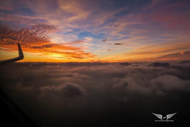 Winglet sunset