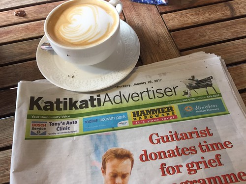 Yesterday's paper but today's too strong #coffee