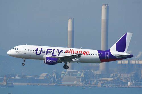 HK Express A320 B-LPH 'U-Fly Alliance' HKG Feb 17
