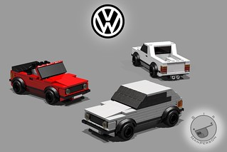 Lego VW MkI Golf collection