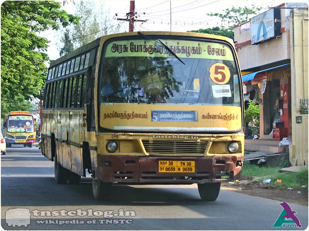 TN-30N-0659 of Erumapalayam 1 Depot 5 Salem City Bus stand - Kannankurichi.