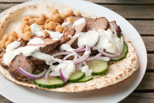 Moroccan-Spiced Grilled Lamb Wraps