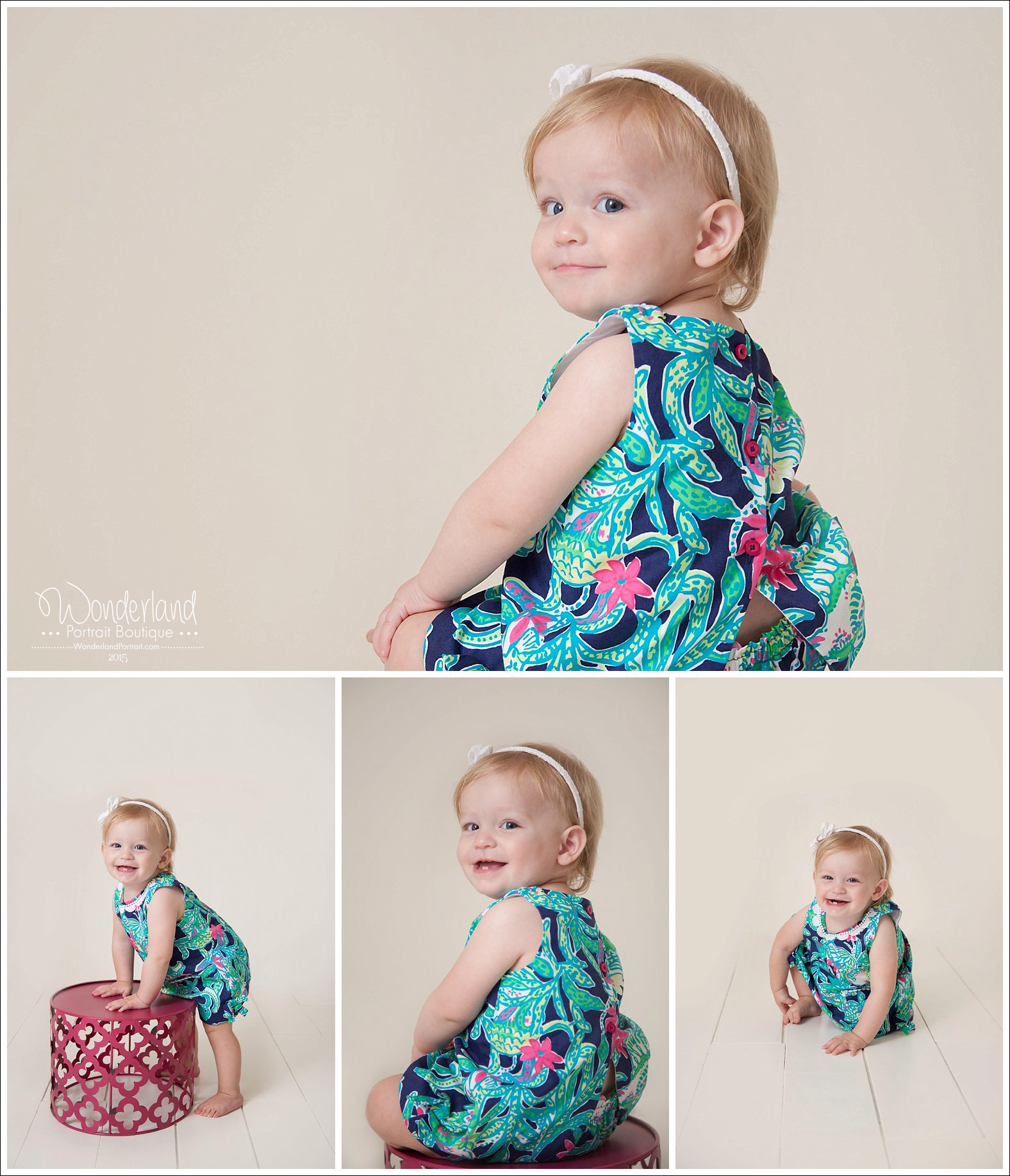 Yardley PA First Birthday Ideas Portraits | WonderlandPortrait.com