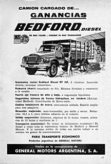 1960 Bedford Diesel Truck Ad (Argentina)