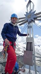 Ronald op de top van de Zsigmondyspitze