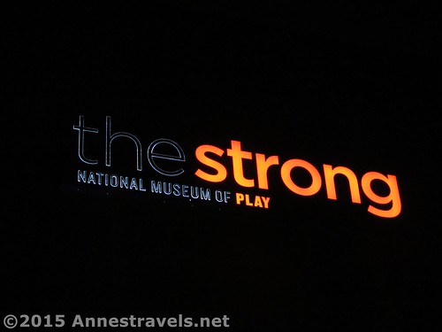 Sign outside the Strong National Museum of Play, Rochester, New York