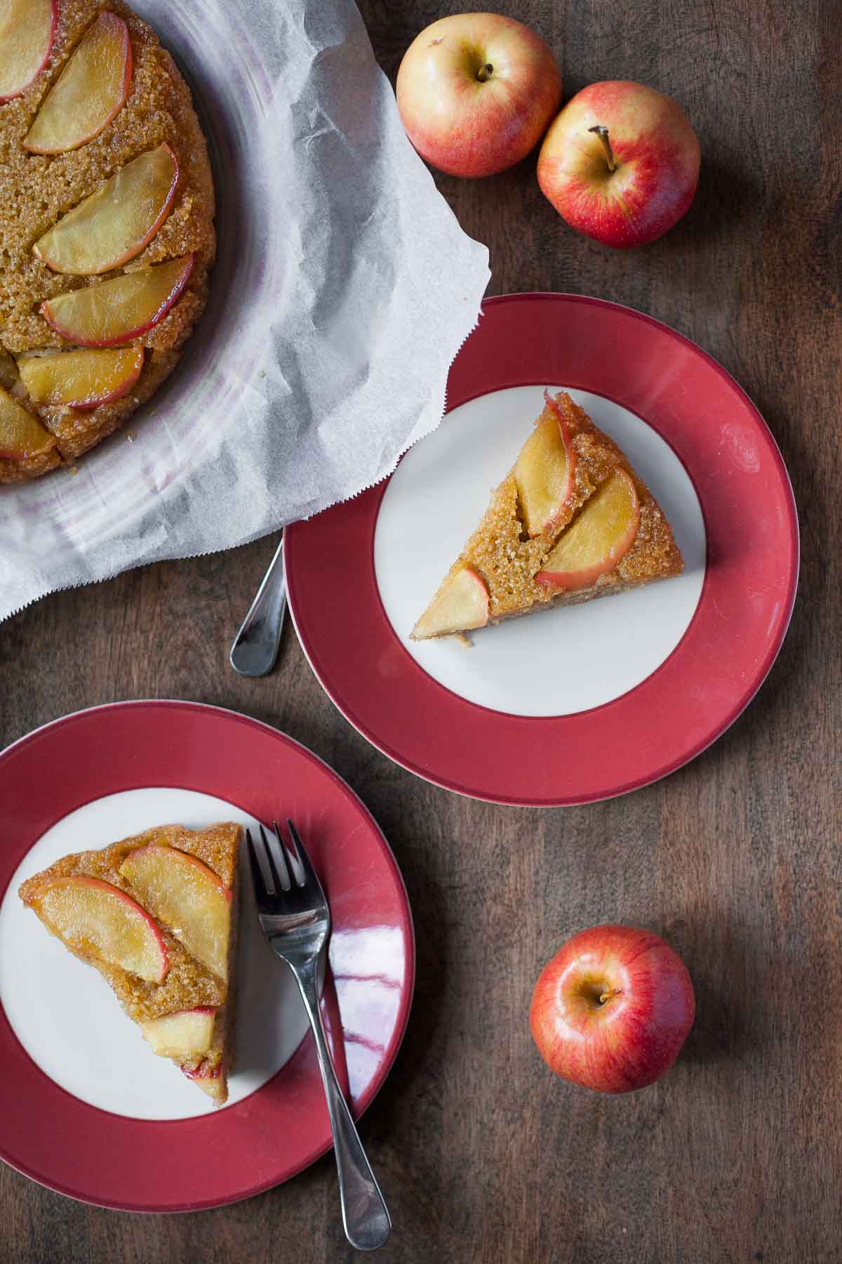 Apple Honey Upside-Down Cake (Dairy free, Paleo) | acalculatedwhisk ...