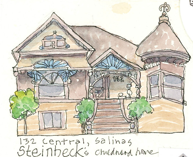 john Steinbeck's home~ from my sketchbook