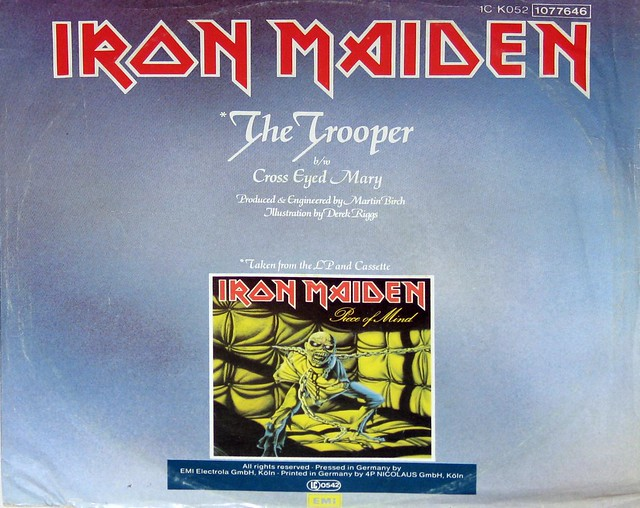 "IRON MAIDEN - The Trooper (12"" Maxi Single) Super Sound Version"