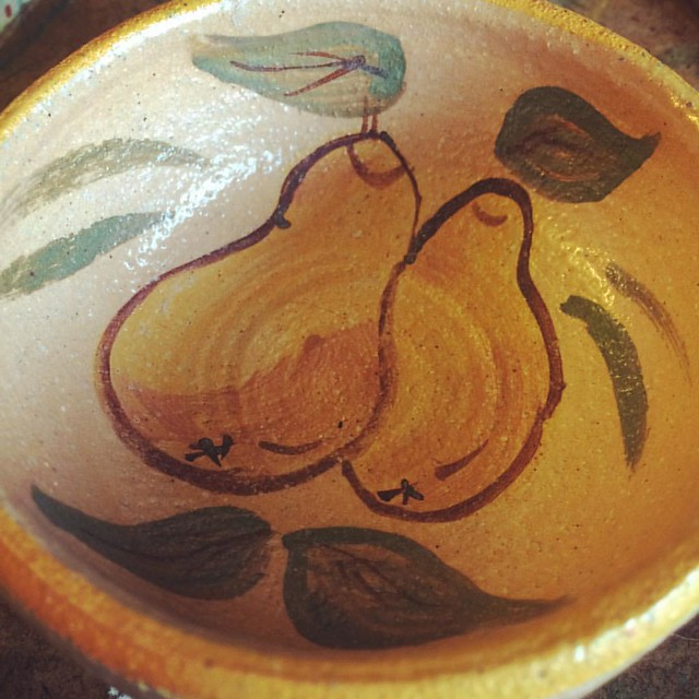 Tiny Pear Bowl #thrifting #goodwill