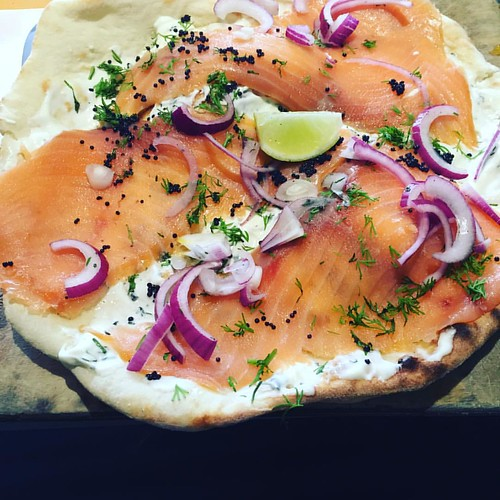 """This was lunch. It was called """"Jewish naan"""". It was amazing. #berlin"""