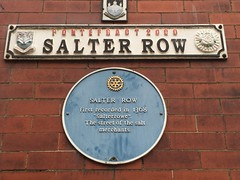 Photo of Salter Row blue plaque