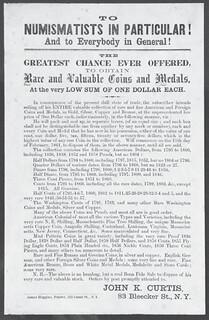 Curtis Numismatic Lottery Schema