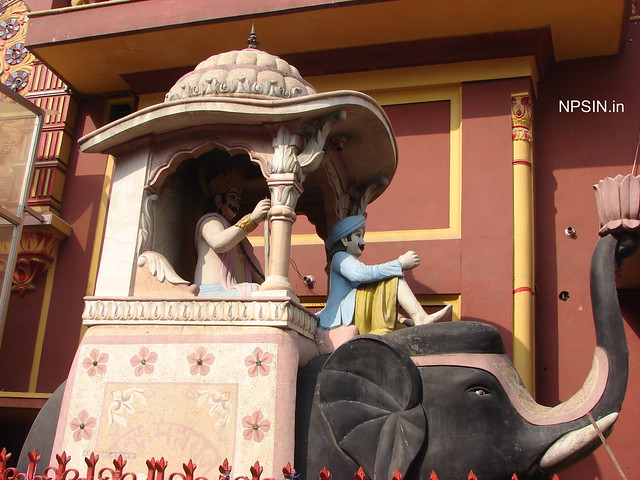 Two large elephants at main entry gate