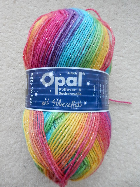 Sparkly rainbow yarn