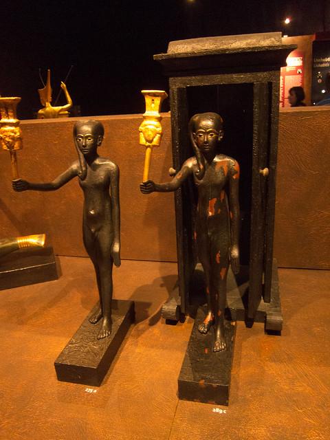 Black Egyptian statues