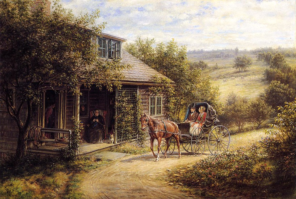 Unexpected Visitors by Edward Lamson Henry - 1909