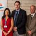 Claudia Sánchez, gerente General de Tecnologías Cobra; John Jickling, vicepresidente de EPCM Services, y Dan Pozzobon, de EPCM Services