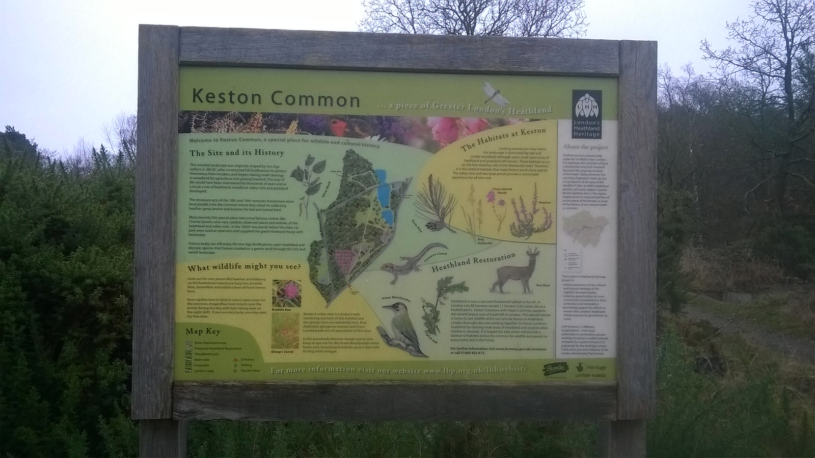 Keston Common sign