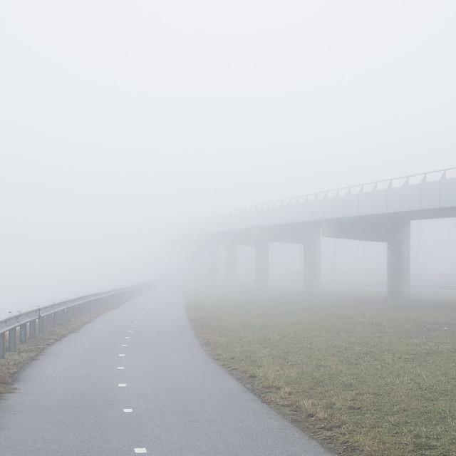 the bike path and the bike bridge