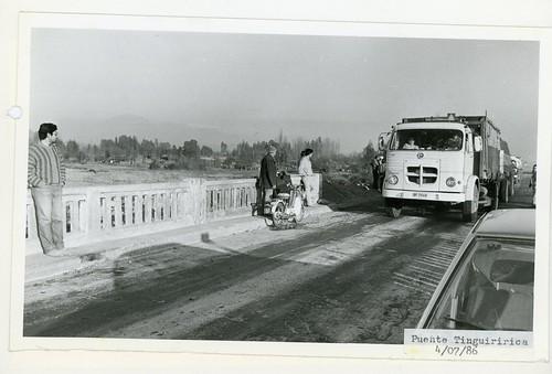 Chile 1986 - Temporales: Puente Tingiririca
