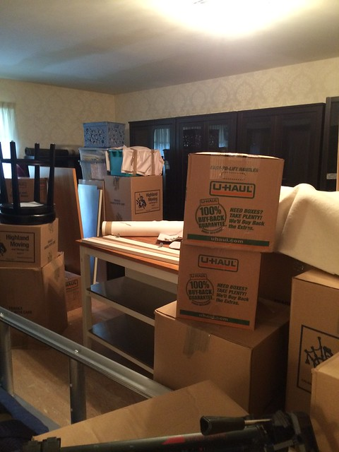 unpacking the sewing room