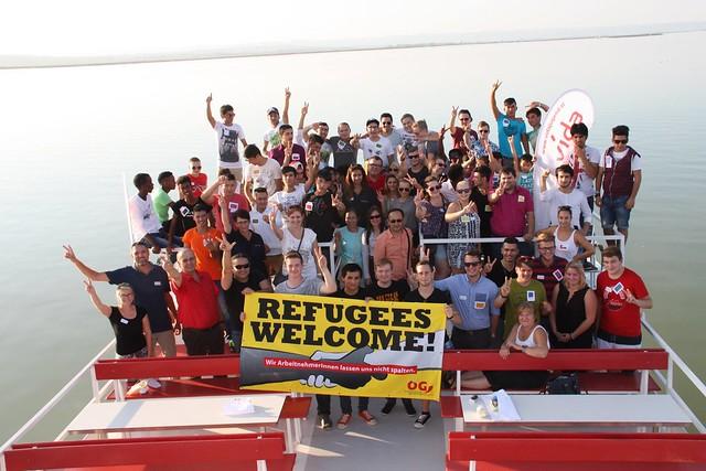 vida Burgenland lädt Asylsuchende zu Schifffahrt ein