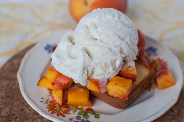 Pound Cake and Peaches Sundae 9