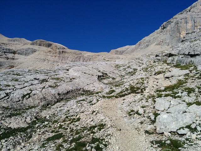 Aufstieg zur Lavarelascharte