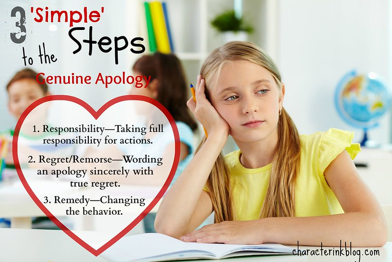 """3 """"Simple"""" Steps to the Genuine Apology"""