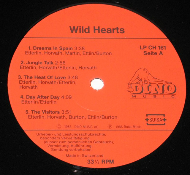 "Wild Hearts S/T Self-Titled 12"" VInyl LP"