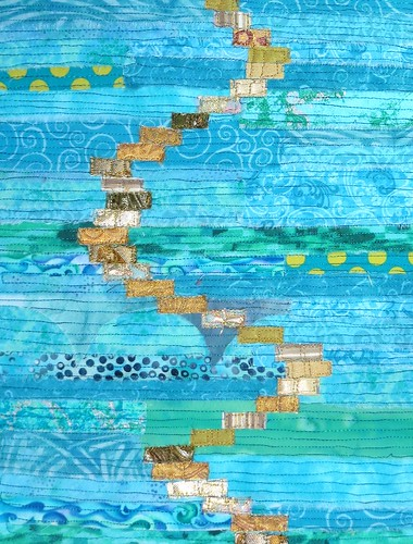 gold rectangle river on turquoise