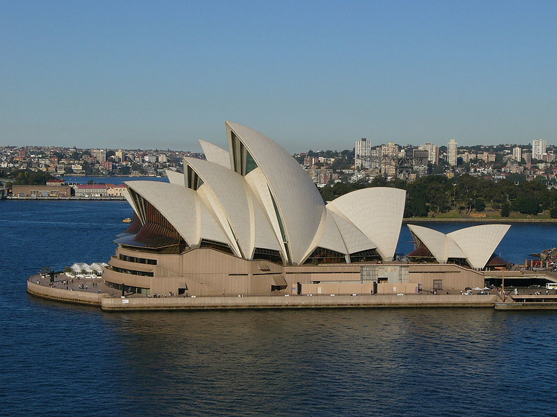 View on Sydney Opera House from the west