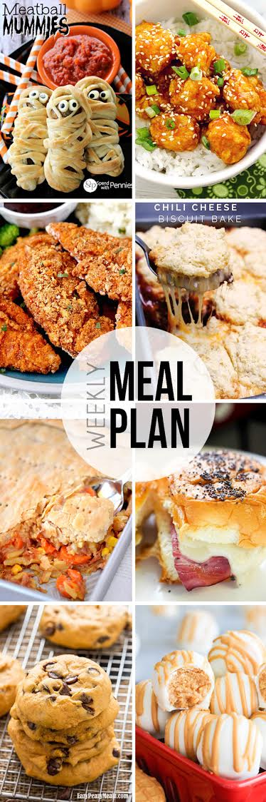 Menu Plan week 17 - 6 dinner ideas, one weekend breakfast plus 2 desserts every single week equals one heck of a delicious menu!