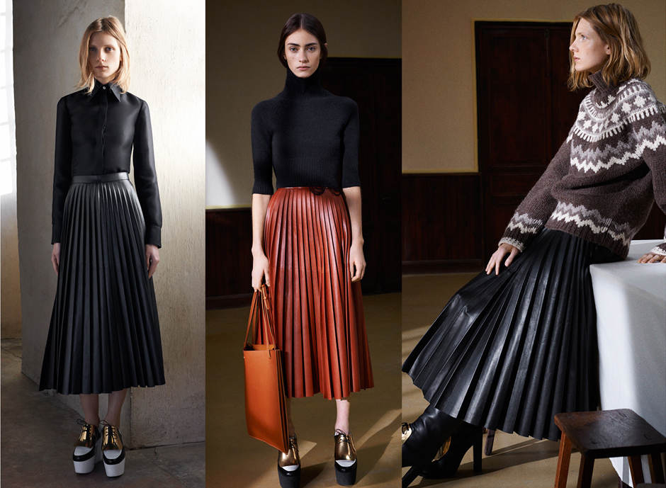 celine-pleated-skirt-fall-2015