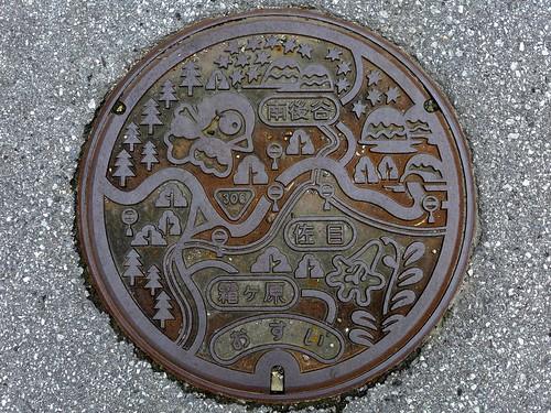 Taga Shiga, manhole cover 2 (滋賀県多賀町のマンホール2)