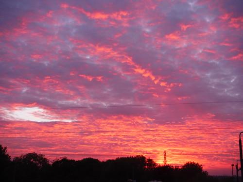 Sunset, from Harlington Station