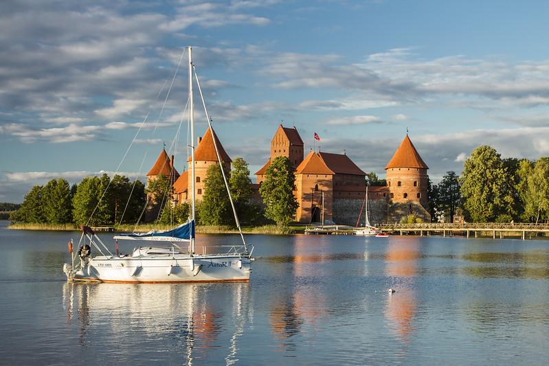 Panorama Zamku w Trokach - Trakai Island Castle