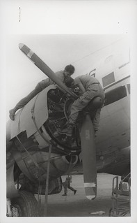 Marines Clean Engine of C-117 Aircraft, 30 December 1967