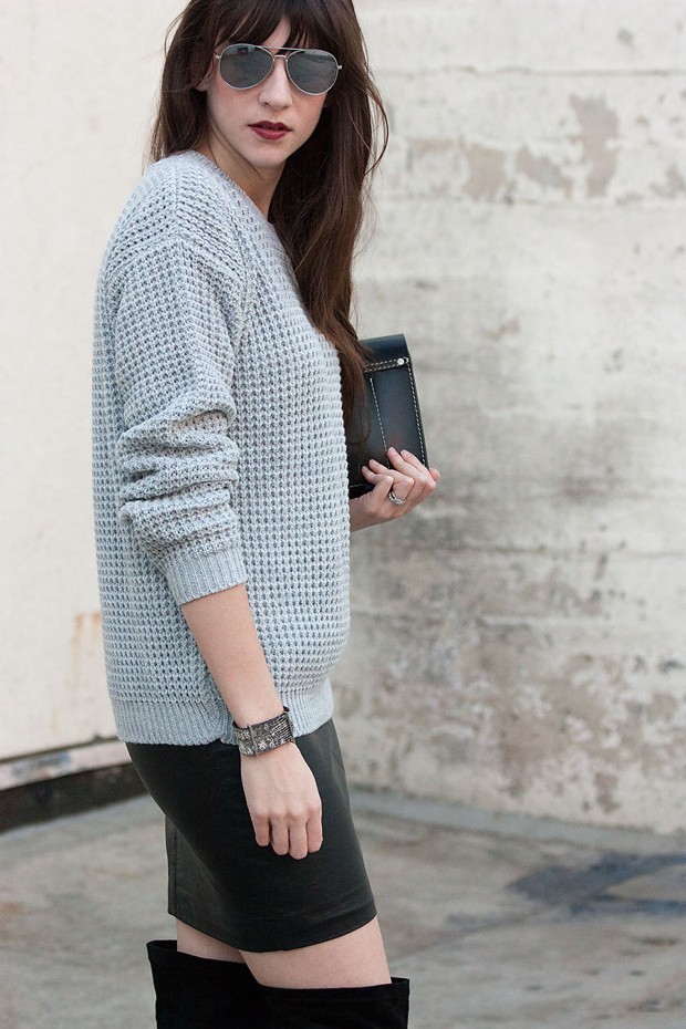 Waffle Knit Sweater, Roxanne Bergez