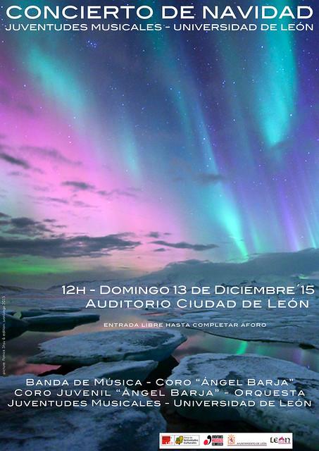 CONCIERTO DE NAVIDAD JUVENTUDES MUSICALES-UNIVERSIDAD DE LEÓN - DOMINGO 13 DICIEMBRE´15 - AUDITORIO CIUDAD DE LEÓN