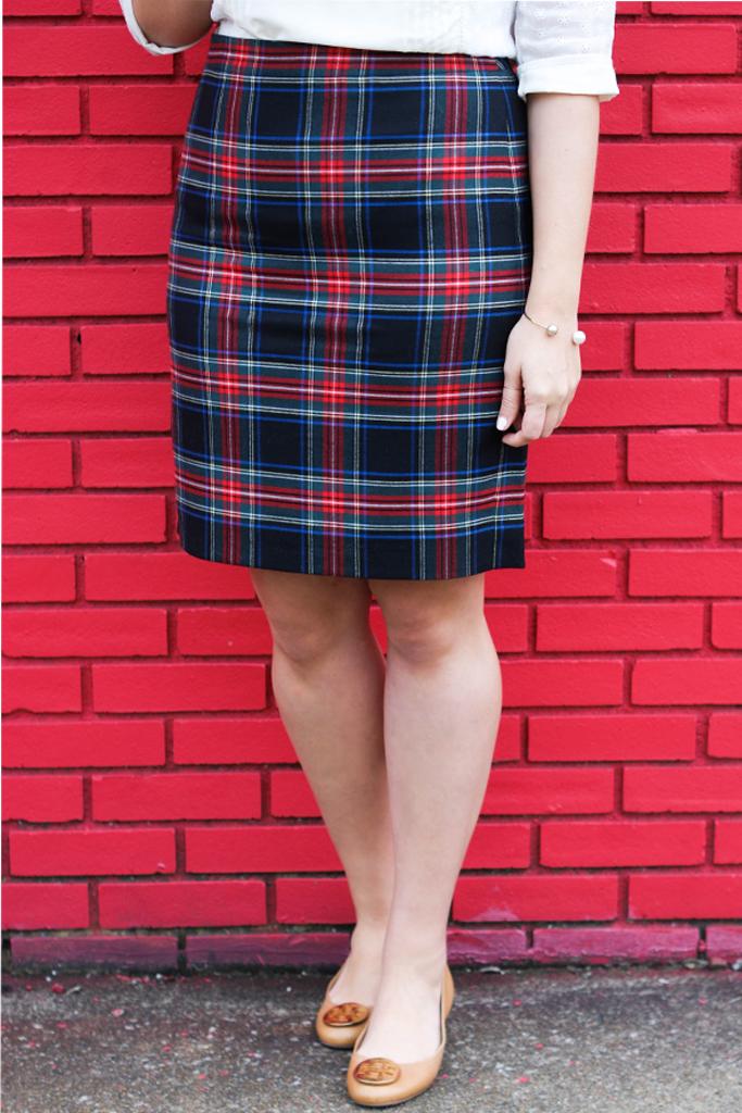 j.crew factory plaid skirt