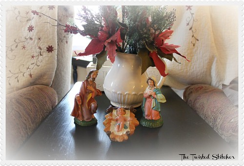 Grandma's Chalkware Nativity