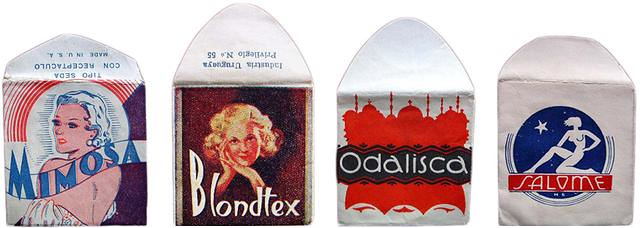 仕女、裸女肖像營造優雅形象 1910 到 1950 年的復古保險套包裝21