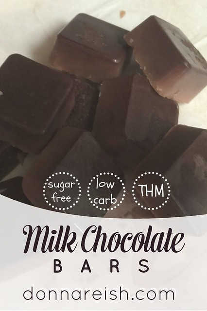 Sugar-Free Milk Chocolate Bars (THM S, Low Carb)