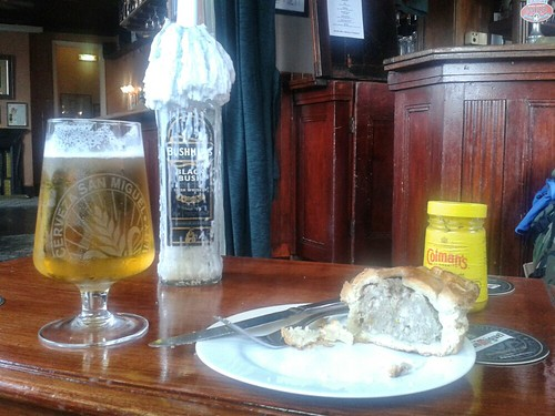 San Miguel and Lunch at the Spotted Dog