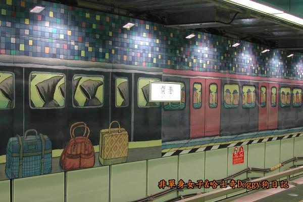 南港車站幾米彩繪04